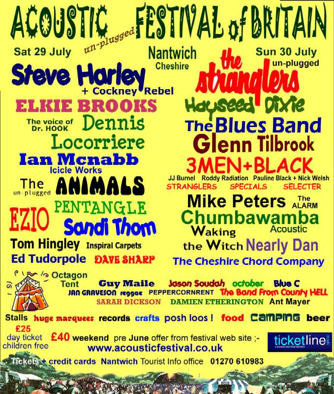 2006 Acoustic Festival of Britain  Poster
